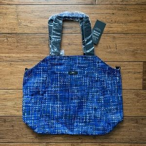 Scout - Blue Sketch Plaid Style Tote